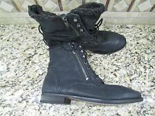NEW SAM EDELMAN MACKAY BLACK LEATHER ANKLE BOOTIES BOOTS WOMENS 8.5 NEW IN BOX