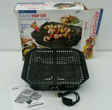 BARELY USED - Sunbeam ELECTRIC INDOOR Smokeless GRILL BROILER BBQ Barbecue rival