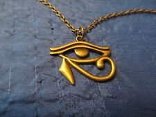 Egyptian EYE OF HORUS pendant necklace in a lovely bronze color FREE SHIPPING