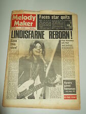 MELODY MAKER 1973 MAY 26 LINDISFARNE THE FACES KEVIN AYERS