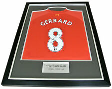 Steven Gerrard Signed FRAMED Shirt Photo Autograph Liverpool Name #8 PROOF & COA