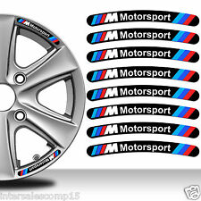 8 BMW Motorsport Autocollants Sticker Auto Voiture Jante Roue Liseret Wheel C19