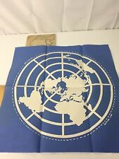 Vtg 1950 United Nations Day Flag Making Kit Embroidery Sewing Needle Craft UN
