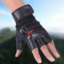 Men Weight Lifting Climbing Gym Exercise Training Sport Sports Leather Gloves