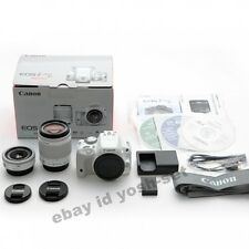 Canon EOS Kiss X7 (100D/Rebel SL1) EF-S 18-55mm EF 40mm White Twin Lens Kit EMS