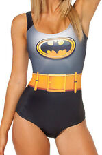 LADIES BATMAN SWIMMING COSTUME SWIMSUIT SWIMWEAR COMIC WOMENS SIZE 8 & 10