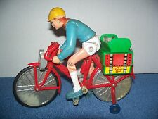 Vintage Battery Operated Go Go Bicycle w/ Bike Rider Action Figure 6""