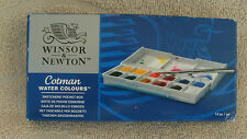 Winsor & Newton Cotman Water Colour Sketchers' Pocket Box 14 Piece Set ~ NEW