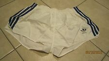 NEU! original Adidas Sprinter D8 Vintage Short weiß / blau shiny Nylon Retro XL