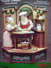 RARE Enesco Santa & Wife Yuletide Yummies Multi-Action Music Box MIB