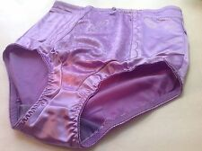 Women Panties,Briefs,Control Panties Ann Diane SZ. 3XL.Violet Satin W/2 Pockets