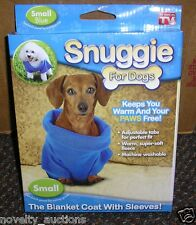 TL00 SNUGGIE FOR SMALL DOGS BLANKET COAT WITH SLEEVES PET DOG