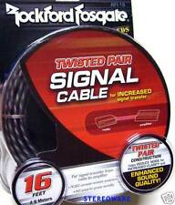 Rockford Fosgate RFI-16 16' FT RCA Cable Wire 2 Channel