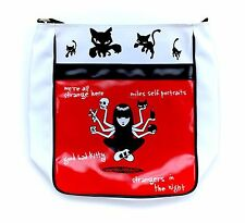 Rare Emily The Strange Goth Girl Cross Body Messenger Bag Purse Black Cat RARE