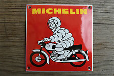 Quality porcelain advertising sign Michelin man on motorcycle garage plaque M5