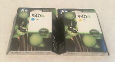 NEW - HP 940XL HIGH CAPACITY CARTRIDGES Yellow And Cyan OFFICEJET