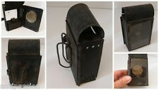Ancienne lanterne de poche à système a mèche style pyrogene lampe a petrole,n°LS