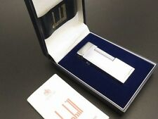 Dunhill Vintage Rollagas Lighter Silver Plated RARE Design with Box Authentic
