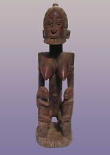 """African Dogon Maternity Figure With Twins  From Mali 19 1/2 """" Tall"""