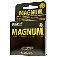Trojan Magnum Condoms, Premium Latex, Lubricated, Large Size - 2 boxes/6 condoms