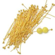 Wholesale 100pcs Ball Head Pins Ballpins Needles Jewelry Findings 30mm Gold