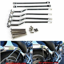 Chrome Saddlebag Support Bars For Yamaha Dragstar V Star Classic 650 Custom 400