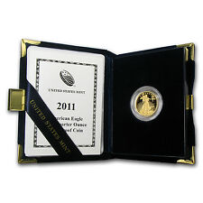 2011-W 1/4 oz Proof Gold American Eagle Coin - Box and Certificate - SKU #70429