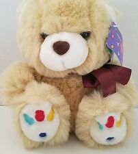 Teddy Bear Plush Stuffed Animal Premier Toy Tan Jelly Bean Colored Toes 9""