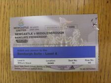 02/01/2006 Ticket: Newcastle United v Middlesbrough [Bamburgh Suite Season 2005/