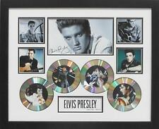 ELVIS PRESLEY CDS SIGNED LIMITED EDITION FRAMED MEMORABILIA