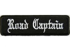 "ROAD CAPTAIN Old English 3.5"" x 1"" iron on patch (5212) Biker Club"