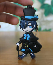 black butle Cell rubber key chain doll cute ornament toys new style