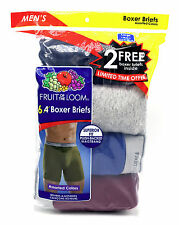12 Blue Gray Red Large L 38-40 Inch Fruit Of The Loom Boxer Briefs G 97-102 CM