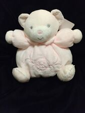 Kaloo Teddy Bear Plume Pink Plush Soft Toy Comforter Chubby Flower Soother Hug