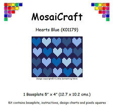 MosaiCraft Pixel Craft Mosaic Art Kit 'Hearts Blue' (Like Paint by Numbers)