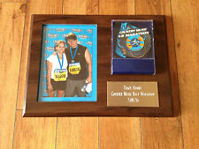 Running runner run picture frame plaque medal holder half marathon 10k 5k 9*12