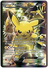 Pokemon TCG R/B Pikachu EX XY124 Black Star Box Promo & Online Redemption Card