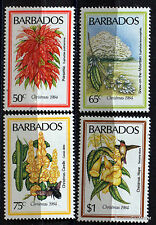 BARBADE  TIMBRES NEUFS FLEURS FLOWERS  FLORE 98M107