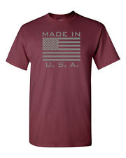 MADE IN U.S.A. Flag Patriotic USA America United States Men's Tee Shirt 1111