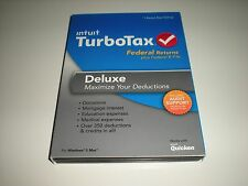 Turbotax 2013 Deluxe. Federal Only + Federal E-file. New in sealed box.