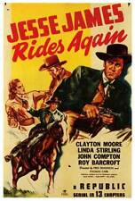 JESSE JAMES RIDES AGAIN Movie POSTER 27x40 Clayton Moore Linda Stirling Roy