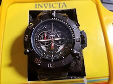 Invicta Men's Unique 4695S Subaqua Chronograph Black Dial Grey Rubber Band