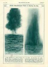 1917 Exploding Sea Mine British Mine-sweepers At Work