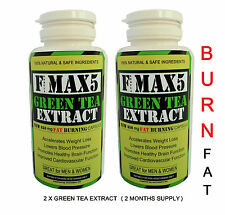 X2 GREEN TEA FAT BURNERS CAPS STRONGEST LEGAL SLIMMING DIET & WEIGHT LOSS NEW 91