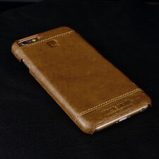 PIERRE CARDIN Genuine Leather Hard Back Case Cover For iPhone 6 (4.7') /6S Brown