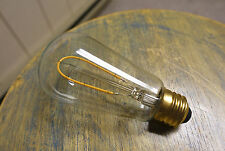 LOT: 4x LED Edison Bulbs ST18, Curved Vintage Hairpin Filament, 2 watt (25w)
