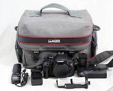 Canon EOS Rebel T3i/600D 18.0 MP Digital SLR Camera Body Grip And Items Shown