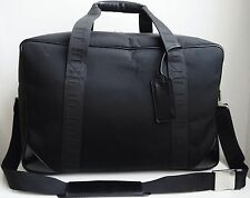 AUTHENTIC DUNHILL BLACK NYLON  LEATHER  TRAVEL BAG