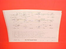 1963 1964 PLYMOUTH VALIANT BARRACUDA SIGNET CONVERTIBLE FRAME DIMENSION CHART