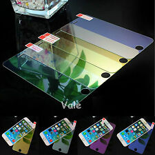 New Full Colored Mirror Effect Tempered Glass Screen Protector For iPhone 6 4.7""